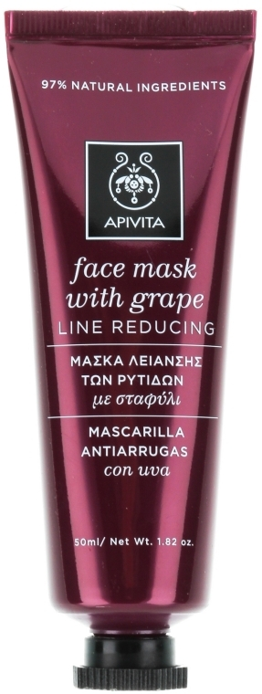 Маска для лица против морщин с виноградом - Apivita Moisturizing Fase Mask With Grape