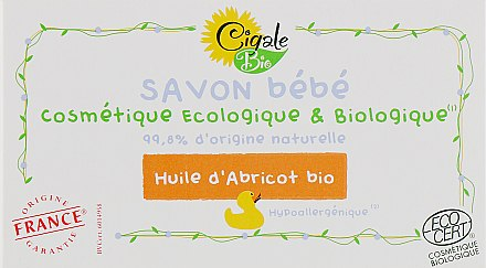 Детское мыло с абрикосовым маслом - La Cigale Bio Baby Soap With Apricot Oil