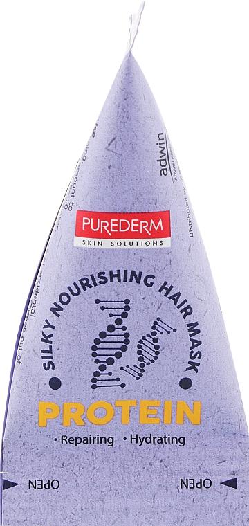"Питательная маска для волос ""Протеин"" - Purederm Silky Nourishing Hair Mask Protein"