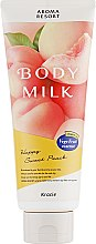 "Духи, Парфюмерия, косметика Молочко для тела ""Аромат персика"" - Kracie Aroma Resort Body Milk"