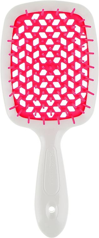 Расческа для волос, малиново-белая - Janeke Superbrush
