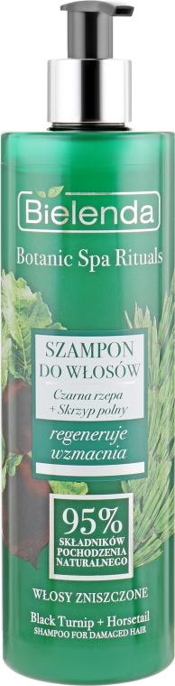 """Шампунь """"Черная репа + Полевой хвощ"""" для поврежденных волос - Bielenda Botanic Spa Rituals Shampoo"""