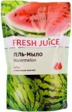 Духи, Парфюмерия, косметика Гель-мыло с экстрактом арбуза и кокосовым маслом - Fresh Juice Watermelon (дой-пак)