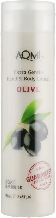 Лосьон для рук и тела с экстрактом оливы - Aomi Extra Gentle Hand & Body Lotion Olive