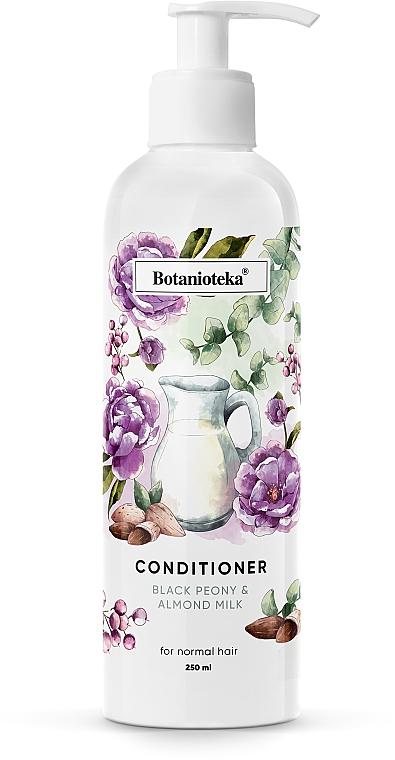 """Кондиционер для нормальных волос """"Черный пион и миндальное молочко"""" - Botanioteka Conditioner For Normal Hair"""