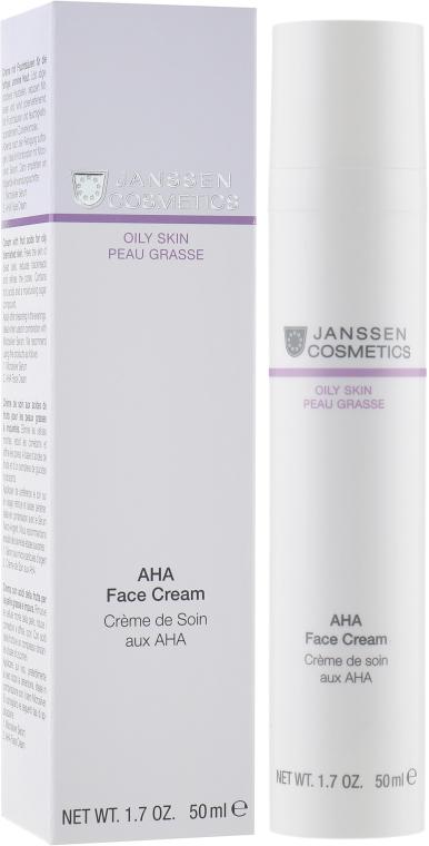Активный крем с фруктовыми кислотами для жирной кожи - Janssen Cosmetics Aha Face Cream