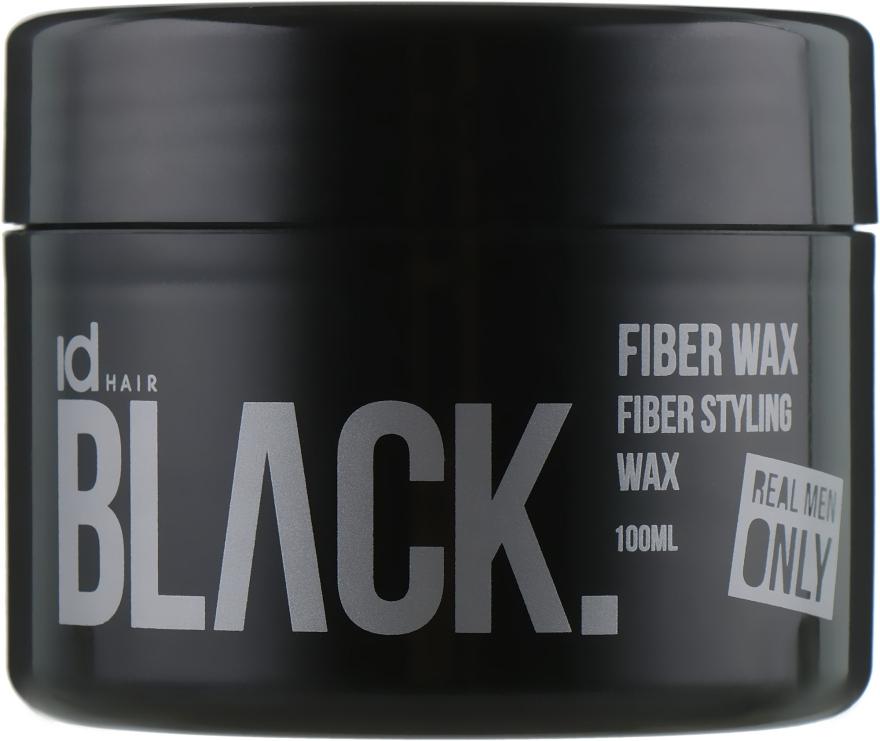 Воск для стайлинга сильной фиксации - idHair Black Fibre Boost Fibre Wax