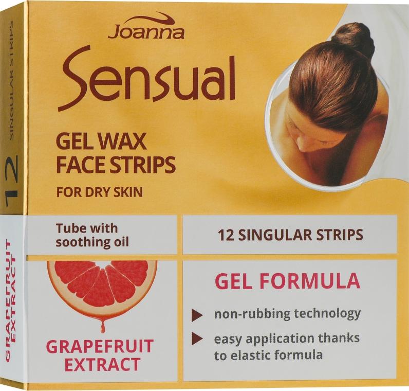 Пластырь с воском для депиляции лица с экстрактом грейпфрута - Joanna Sensual Gel Wax Face Strips