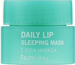 Духи, Парфюмерия, косметика Ночная маска для губ с центеллой - FarmStay Daily Lip Sleeping Mask Cica Madeca (пробник)