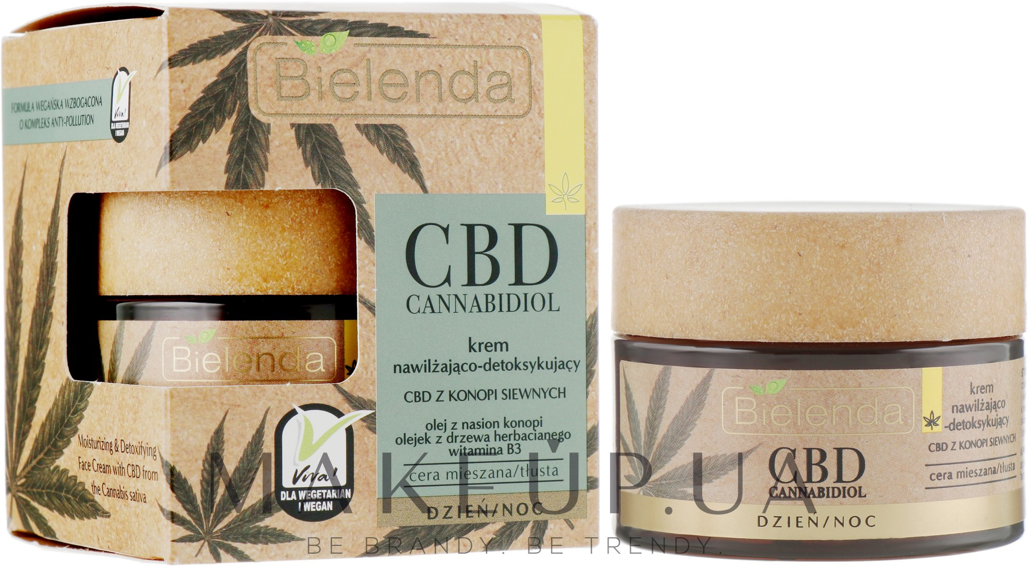 Крем для жирной и комбинированной кожи - Bielenda CBD Cannabidiol Moisturizing & Detoxifying Cream — фото 50ml
