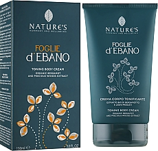 Духи, Парфюмерия, косметика Тонизирующий крем для тела - Nature's Foglie d'Ebano Toning Body Cream