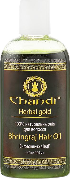 "Натуральное масло для волос ""Брингарадж"" - Chandi Bhringraj Hair Oil"