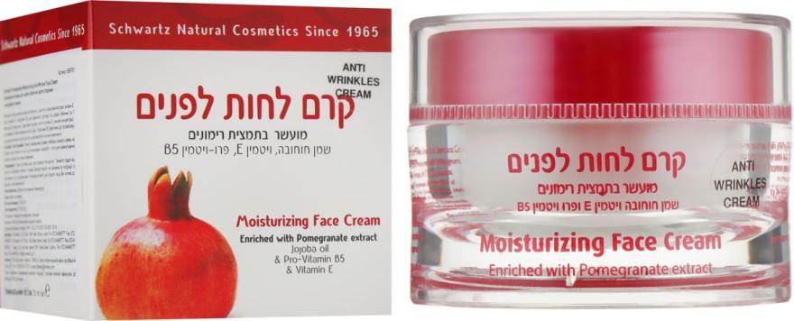 Увлажняющий крем для кожи лица против старения с экстрактом граната - Schwartz Pomegranate Extract Moisturizing Face Cream