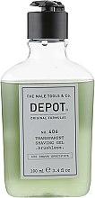 Духи, Парфюмерия, косметика Гель для бритья без пены - Depot Shave Specifics 406 Transparent Shaving Gel