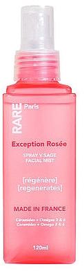 Восстанавливающий мист для лица с церамидами, Омега 3 и 6 - RARE Paris Exception Rosee Regenerating Facial Mist