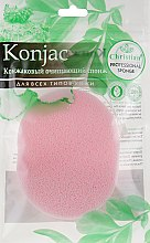 Духи, Парфюмерия, косметика Конжаковый очищающий спонж с розовой глиной, CSP-689 - Christian