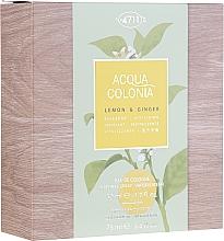 Духи, Парфюмерия, косметика Maurer & Wirtz 4711 Aqua Colognia Lemon & Ginger - Набор (edc/50ml + sh/gel/75ml)