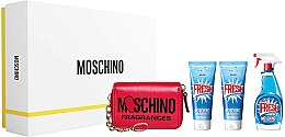Духи, Парфюмерия, косметика Moschino Fresh Couture - Набор (edt/100ml + b/lot/100ml + sh/gel/100ml + key Holder)