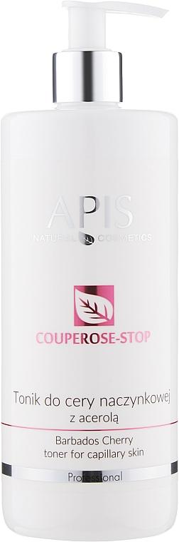 Мягкий тоник с экстрактом ацеролы от купероза - Apis Professional Couperose-Stop Barbados Cherry Tonner