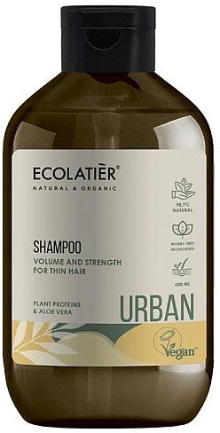 """Шампунь для объема и силы тонких волос """"Растительные протеины и алоэ вера"""" - Ecolatier Urban Volume & Strength Shampoo"""