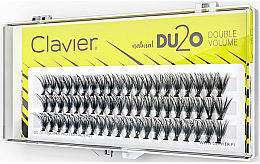 """Духи, Парфюмерия, косметика Накладные ресницы """"Двойной объем"""", 12 мм - Clavier DU2O Double Volume"""