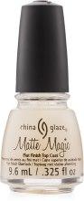 Парфумерія, косметика Матове верхнє покриття - China Glaze Mate Magic Top Coat