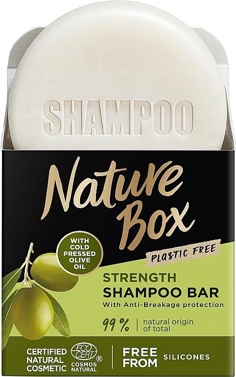 Твердый шампунь для укрепления длинных волос и противодействия ломкости с оливковым маслом холодного отжима - Nature Box Strength Shampoo Bar With Cold Pressed Olive Oil