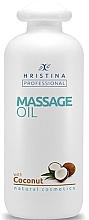 Духи, Парфюмерия, косметика Масло для массажа с кокосом - Hristina Professional Coconut Massage Oil