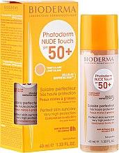 Парфумерія, косметика Сонцезахисний засіб для шкіри - Bioderma Photoderm Nude Touch FPS 50 Claro