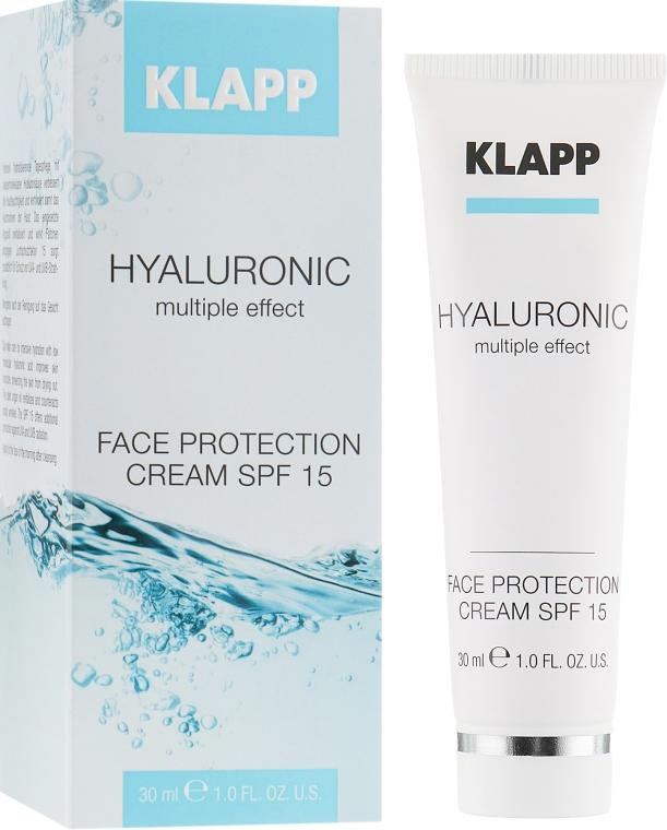 Крем для лица с гиалуроновой кислотой - Klapp Hyaluronic Face Protection Cream SPF15