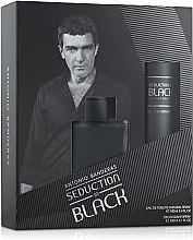 Духи, Парфюмерия, косметика Antonio Banderas Seduction in Black - Набор (edt 100 + deo 150)