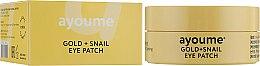 Духи, Парфюмерия, косметика Патчи под глаза с золотом и улиточным муцином - Ayoume Gold + Snail Eye Patch