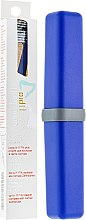 Духи, Парфюмерия, косметика Зубная щетка средней жесткости + футляр, синяя + синий - Experteeth Pro Toothbrush Supersoft