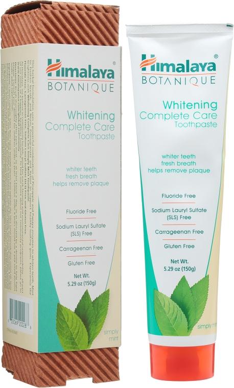 Органическая отбеливающая зубная паста с мятой - Himalaya Herbals Whitening Complete Care Toothpaste Simply Mint