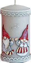 Духи, Парфюмерия, косметика Декоративная свеча, серая, 7х14см - Artman Dwarves