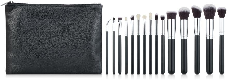 Набор кистей для макияжа 15шт, в косметичке - Aise Line Makeup Brush Set