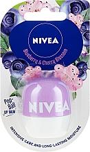 Духи, Парфюмерия, косметика Бальзам для губ - Nivea Pop-Ball Blueberry & Cherry Blossom Lip Balm