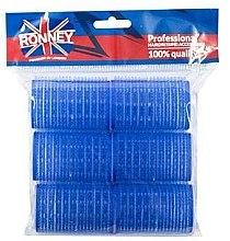 Духи, Парфюмерия, косметика Бигуди на липучке 40/63, синие - Ronney Professional Velcro Roller