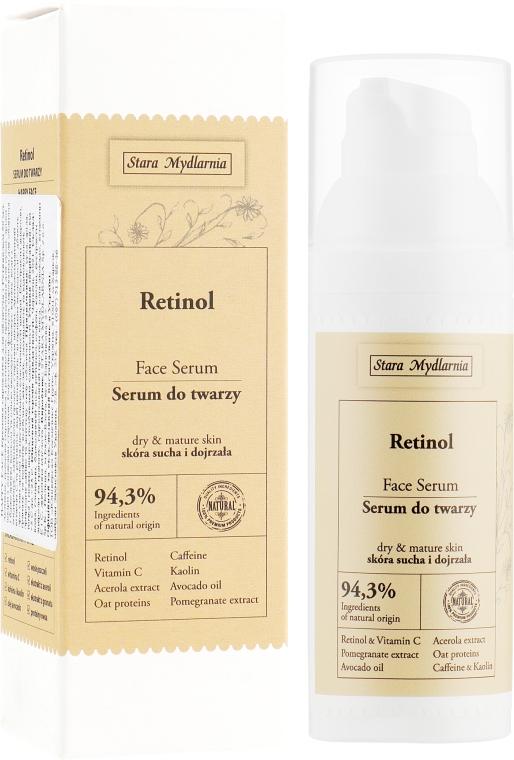 Омолаживающая крем-сыворотка для лица с ретинолом - Stara Mydlarnia Happy Face Retinol Face Serum