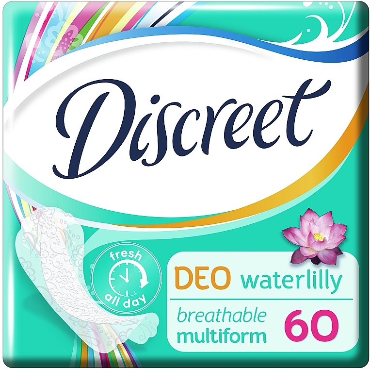 Ежедневные гигиенические прокладки Deo Water Lily, 60 шт - Discreet