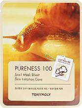 Духи, Парфюмерия, косметика Тканевая маска для лица с улиточным муцином - Tony Moly Pureness 100 Snail Mask Sheet