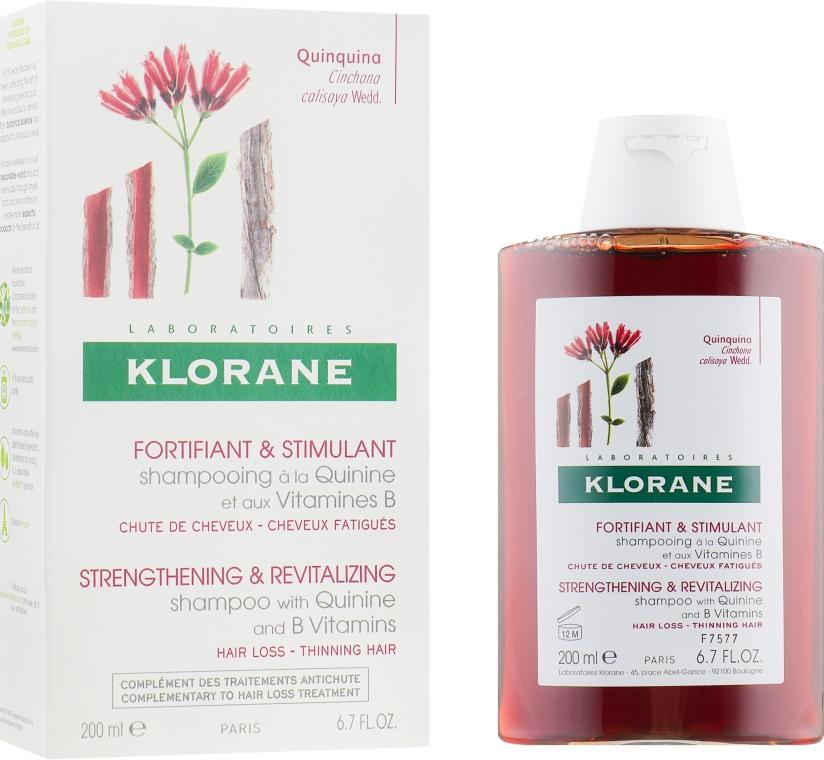 Укрепляющий шампунь с экстрактом Хинина и витаминами B - Klorane Shampoo with Quinine and B vitamins