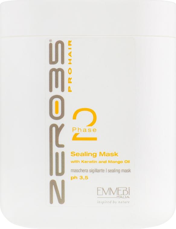 Маска глубокого восстановления для окрашенных волос - Emmebi Italia Zer035 Pro Hair Sealing Mask