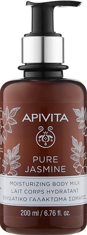 "Увлажняющее молочко для тела ""Натуральный жасмин"" - Apivita Pure Jasmine Moisturizing Body Milk"