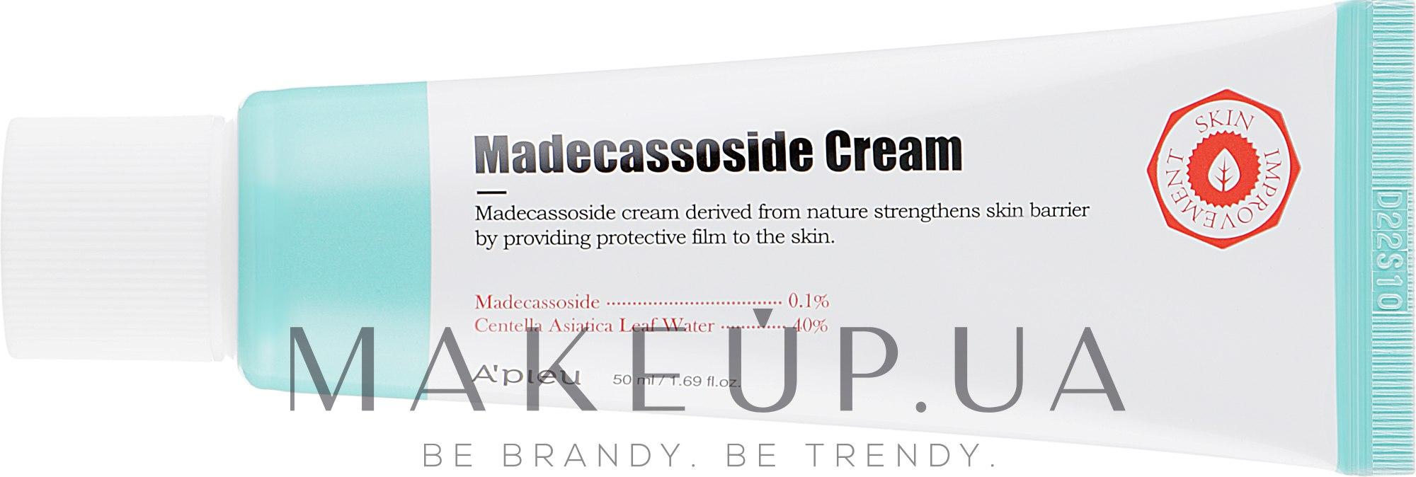 Восстанавливающий крем с мадекассосидом для лица - A'pieu Madecassoside Cream — фото 50ml