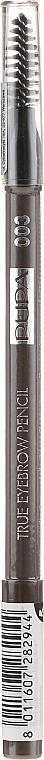 Карандаш для бровей - Pupa True Eyebrow Pencil Long-lasting Waterproof