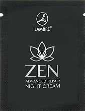 Духи, Парфюмерия, косметика Интенсивный восстанавливающий ночной крем для лица - Lambre Zen (пробник)