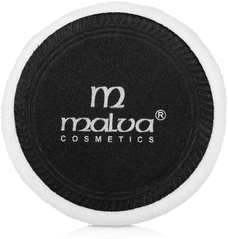 Спонж велюровый, М-006 черно-белый - Malva Cosmetics