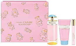 Духи, Парфюмерия, косметика Prada Candy Sugar Pop - Набор (edp/80 ml + edp/10 ml + b/lot/75 ml)
