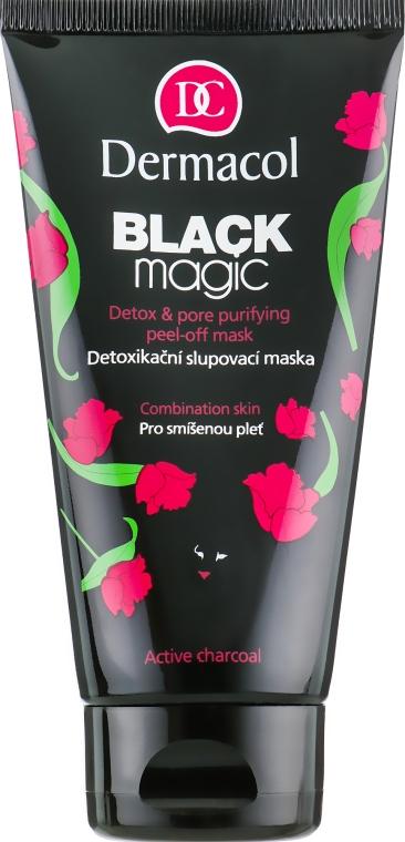 Маска-пленка для комбинированной и жирной кожи - Dermacol Black Magic Detox And Pore Purifying Peel-off Mask